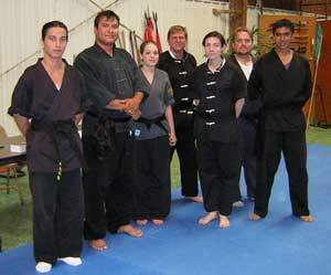Wang's  Martial Arts Black Belt test picture