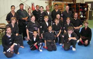 Brown and Black belt test picture