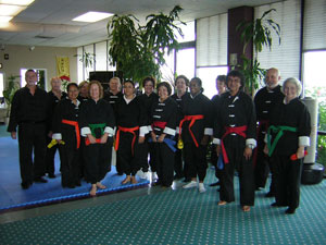 wang's Martial Arts Tai Chi rank test picture.