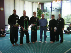 Wang's Martial Arts black belt form picture
