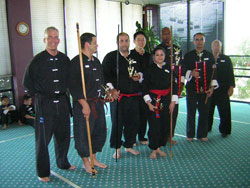 Wang's Martial Arts weapon competetion picture