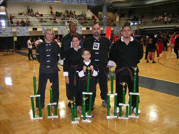 Wang's Martial Arts students tournament picture