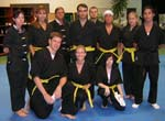 Kung Fu test, yelloow belt group picture