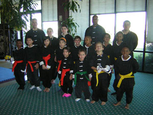 Wang's Martial Arts Kung Fu rank test picture